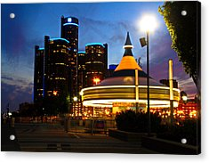 Detroit Waterfront Park Acrylic Print by Rexford L Powell