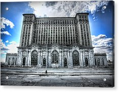 Detroit's Abandoned Michigan Central Train Station Depot Acrylic Print by Gordon Dean II