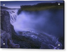 Dettifoss Waterfall Acrylic Print by Giovanni Allievi