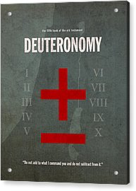 Deuteronomy Books Of The Bible Series Old Testament Minimal Poster Art Number 5 Acrylic Print