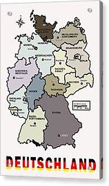 Deutschland Map Acrylic Print by Daniel Hagerman
