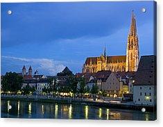 Deutschland, Regensburg, Stadtansicht Acrylic Print