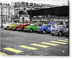 Deux Chevaux In Color Acrylic Print by Ross Henton