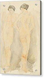 Deux Figures Debout Acrylic Print