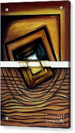 Acrylic Print featuring the painting Deversity View by Fei A