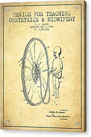 Device For Teaching Obstetrics And Midwifery Patent From 1951 - Vi Acrylic Print by Aged Pixel