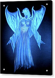 Devil An Angel Acrylic Print by William  Paul Marlette