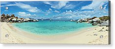Devils Bay And Beach At The Baths Acrylic Print by Panoramic Images