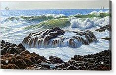 Devil's Churn Area-oregon Coast Acrylic Print by Paul Krapf