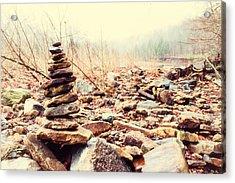 Devil's Den Rock Pile Acrylic Print by Tanya Harrison