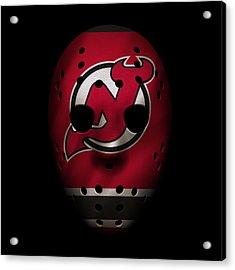 Devils Jersey Mask Acrylic Print