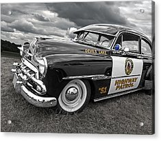 Devils Lake Highway Patrol - '51 Chevy Acrylic Print by Gill Billington