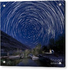 Devils River Star Trails Acrylic Print