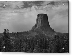 Devil's Tower Burns Acrylic Print