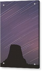 Acrylic Print featuring the photograph Devils Tower Star Trails by Judi Baker