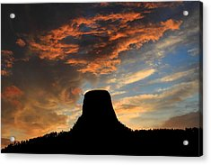 Devil's Tower Sunset Acrylic Print