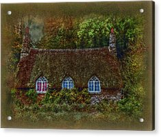 Devonshire Cottage Acrylic Print by Hanny Heim