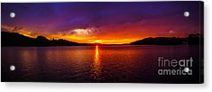 Dexter Lake Oregon Sunset 2 Acrylic Print