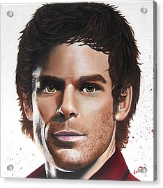 Dexter Acrylic Print by Oddball Art Co by Lizzy Love