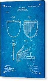 Dexter Pocket Protector Patent Art 1903 Blueprint Acrylic Print by Ian Monk
