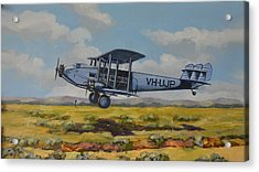Acrylic Print featuring the painting Dh Hercules 1929 by Murray McLeod