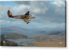 Dh89 Rapide - Back In The Day...... Acrylic Print by Pat Speirs