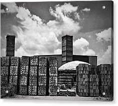 D'hanis Brick Factory Acrylic Print by Wendy J St Christopher