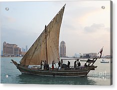 Dhow And Hotels Acrylic Print