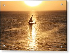 African Dhow At Sunset Acrylic Print