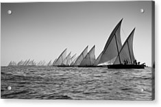 Dhow Race Start Acrylic Print by Chris Cameron