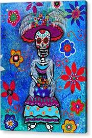 Dia De Los Muertos Catrina Acrylic Print