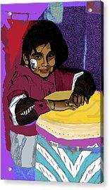 Dia De Los Muertos Child Acrylic Print