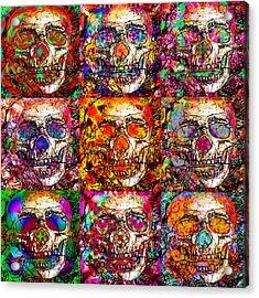 Dia De Los Muertos Acrylic Print by Devalyn Marshall