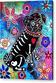 Dia De Los Muertos Pug Acrylic Print