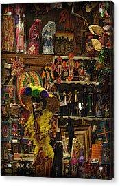 Dia De Muertos Shop Acrylic Print by Nadalyn Larsen