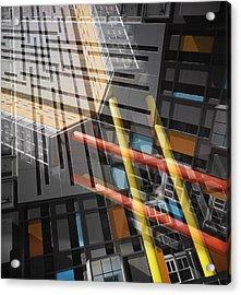 Diagonal Mondrian Acrylic Print