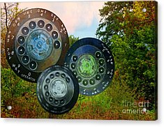 Dialing Up Fall Acrylic Print by Gwyn Newcombe