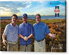 Acrylic Print featuring the painting Diamante Golf by Tim Gilliland