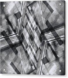 Diamond Cross  Bw Acrylic Print