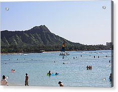 Diamond Head In The Afternoon Acrylic Print by Adam Levine