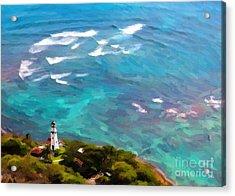 Diamond Head Lighthouse View Acrylic Print