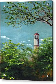 Diamond Head Lighthouse Acrylic Print by Sherry Robinson