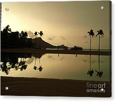Diamond Head Reflection Acrylic Print