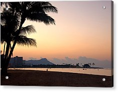 Diamond Head Sunrise - Honolulu Hawaii Acrylic Print