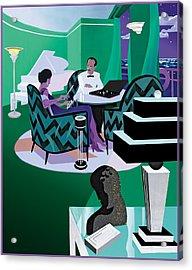 Diamond Merchant Acrylic Print by Clifford Faust