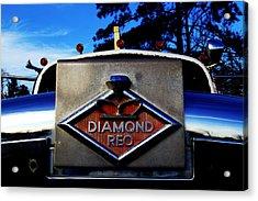 Acrylic Print featuring the photograph Diamond Reo Hood Ornament by Bartz Johnson
