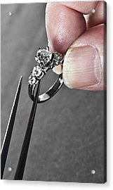 Diamond Ring Remount Acrylic Print