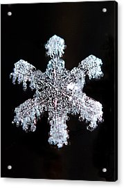 Diamond Snowflake Acrylic Print
