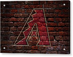 Diamondbacks Baseball Graffiti On Brick  Acrylic Print