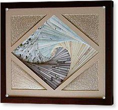 Acrylic Print featuring the mixed media Diamonds Are Forever by Ron Davidson